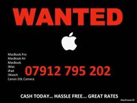 WANTED...WANTED...WANTED. Apple MacBook, Pro, Air, iMac etc. CASH WAITING