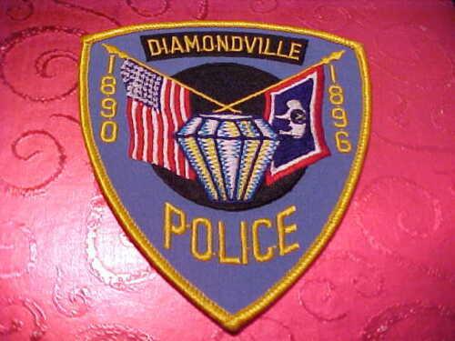 DIAMONDVILLE WYOMING POLICE PATCH SHOULDER SIZE UNUSED