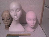 Female Shop Mannequin Heads - Heathrow