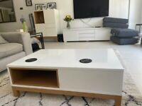 Conran for M&S Nash Sold Out White High Gloss Coffee Table