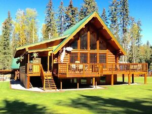 Beautiful log home on 9.81 acres!