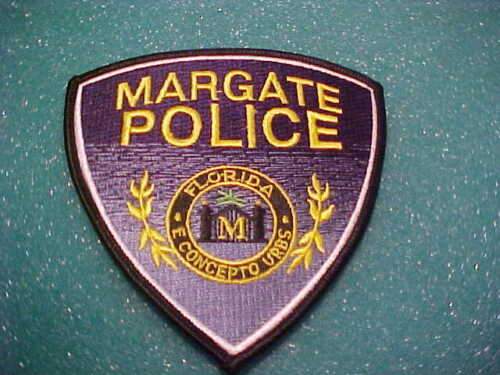 MARGATE FLORIDA POLICE PATCH SHOULDER SIZE UNUSED