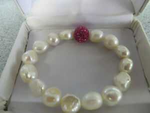 FRESHWATER AND CUBIC CRYSTAL BRACELET London Ontario image 1