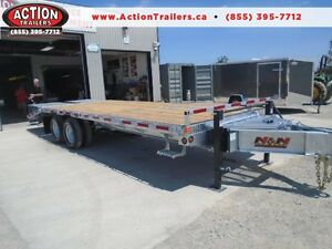 10 TON DUALLY GALVANIZED HEAVY EQUIPMENT DECK OVER TRAILER 25'