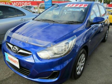2012 Hyundai Accent ACTIVE Blue 4 Speed Automatic Hatchback Capalaba Brisbane South East Preview