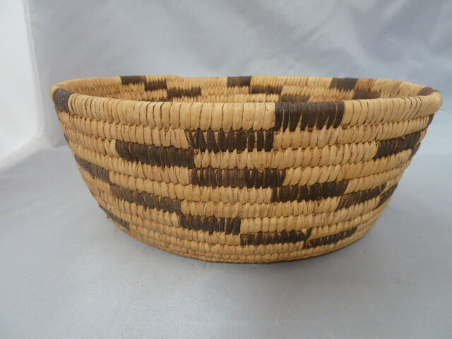 """Native American Weave Basket PAPAGO   BOWL  Approx 3.5"""" x 9""""."""