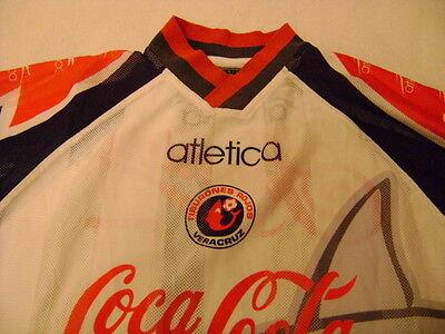 Tiburones Rojos shirt jersey Atletica XL Mexico 1997/8 vintage image