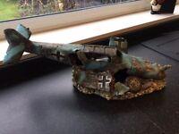 Fish tank decorative fighter plane relic