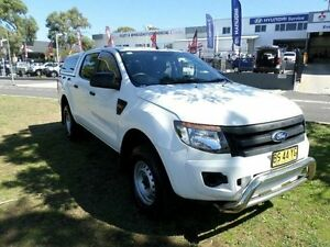 2013 Ford Ranger PX XL 2.2 HI-Rider (4x2) White 6 Speed Automatic Crew Cab P/Up Belconnen Belconnen Area Preview