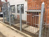 Galvanized fencing and gate in Clevedon BS21