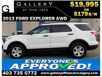 2013 Ford Explorer AWD $179 bi-weekly APPLY NOW DRIVE NOW