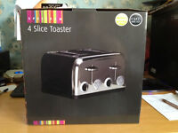 Boxed Spectrum 4 Slice Toaster Black
