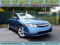 2008 HONDA CIVIC DX! WE FINANCE EVERYONE! CASH OFFERS WELCOME!