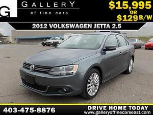 2012 Volkswagen Jetta 2.5L $129 bi-weekly APPLY NOW DRIVE NOW