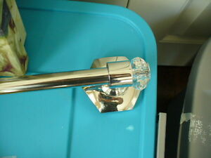Crystal and stainless Towel rack