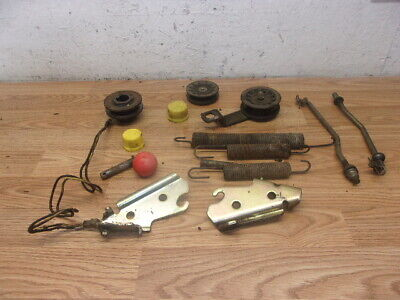 John deere stx 38 black deck springs , pulleys , hood brackets , deck hangers