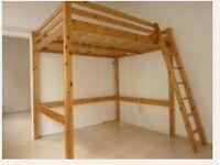 Real Wood IKEA STORA Double Loft Bed High Sleeper Cabin Bunk Mezzanine Space Saver