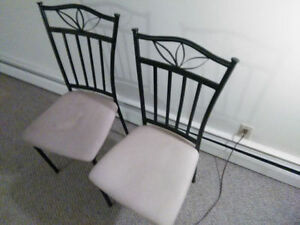 2 chairs with Vintage Sewing Stool/Bench