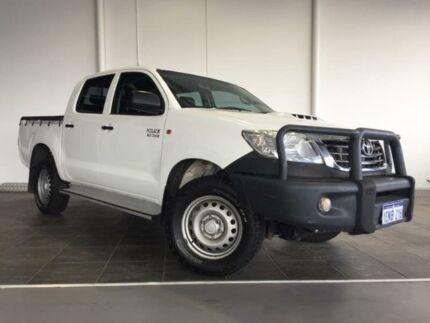 2014 Toyota Hilux KUN26R MY14 SR (4x4) Glacier White 5 Speed Automatic Dual Cab Pick-up