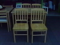 Farmhouse Table & 4 Chairs Good Condition