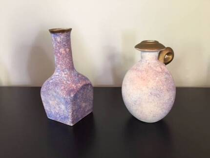 Set of 2 hand made Pottery Vases