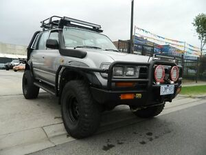 1992 Toyota Landcruiser HDJ80R GXL Silver 5 Speed Manual Dual Cab Williamstown North Hobsons Bay Area Preview