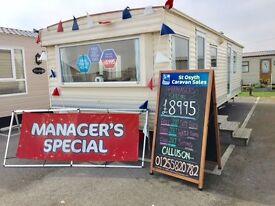 Cheap starter caravan @ St Osyth Beach Essex, Indoor Pool, Beach Access, not suffolk kent london