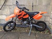 KTM - JUNIOR MOTORCROSS BIKE FOR SALE