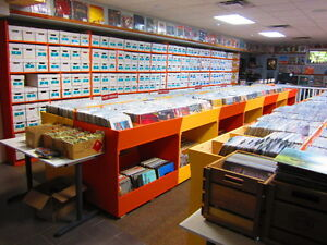 ALBERTA'S BEST VINTAGE USED VINYL RECORD STORE - LPs 45s Tapes
