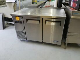 ATOSA TWO DOOR STAINLESS STEEL BENCH FRIDGE AST116