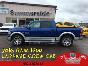 2016 Ram 1500 Laramie Crew Cab, Two Tone LOADED LOW KMS