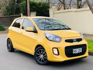 2016 Kia Picanto TA MY17 SI Yellow 4 Speed Automatic Hatchback Medindie Walkerville Area Preview