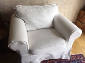Ikea Ektorp armchair and footsool, great condition from smoke and pet free home.