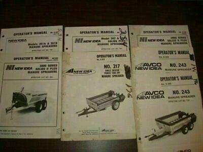 7 New Idea Manure Spreader Operator Manual Bm374