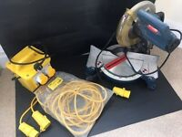 110 VOLT TRANSFORMER WITH EXTENSION LEAD AND RYOBI COMPOUND MITRE SAW