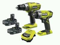 Bargain brand new ryobi 18v twin pack £120😮😮dewalt Makita