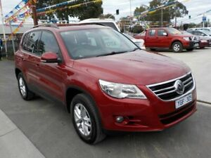 2010 Volkswagen Tiguan 5NC MY11 103 TDI Red 7 Speed Auto Direct Shift Wagon Newtown Geelong City Preview