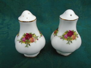 Royal Albert Old Country Rose Salt and Pepper Shakers
