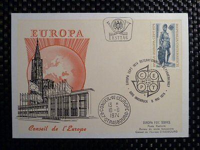 AUSTRIA MK 1974 EUROPA CEPT ÖSTERREICH MAXIMUMKARTE CARTE MAXIMUM CARD MC a8640