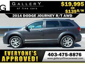2014 Dodge Journey R/T AWD $139 BI-WEEKLY APPLY NOW DRIVE NOW
