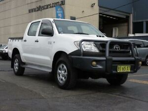 2010 Toyota Hilux KUN26R 09 Upgrade SR (4x4) White 5 Speed Manual Dual Cab Pick-up Condell Park Bankstown Area Preview