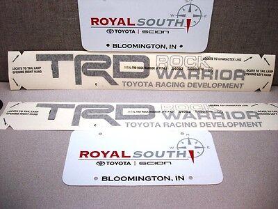 Toyota Tundra TRD Rock Warrior Black Decal Emblem Sticker Kit Genuine OE OEM