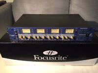 Focusrite ISA428 MK1 microphone preamp, inc. optional ADC digital card. Excellent condition, boxed.