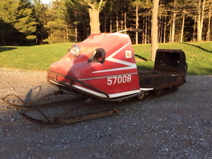 1969 Sno Commander Snowmobile Project Sled