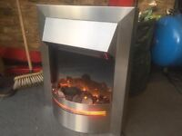 £399 Stainless Steel Flame Effect Fireplace Heater For Only £80 - A Steal At That Price