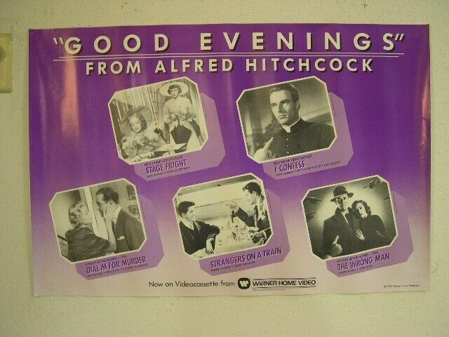 Alfred Hitchcock Poster I Confess Stage Old