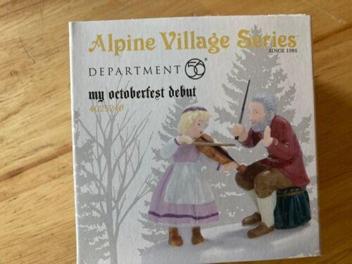 DEPT 56 ALPINE VILLAGE Accessory MY OCTOBERFEST DEBUT NIB