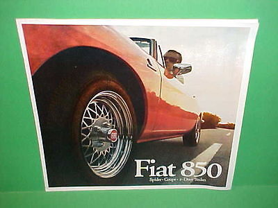 1968 Fiat 850 - 1968 FIAT 850 SPIDER CONVERTIBLE COUPE SEDAN DELUXE PRESTIGE BROCHURE CATALOG 68
