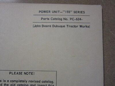 John Deere 155 Engine Power Units Parts Manual