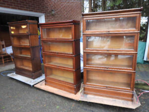 several antique barrister bookcases, restored REDUCED